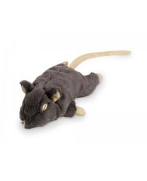 Плюшена мишка с привличаща билка -  NOBBY Германия - 14.5 см - сива  - Аксесоари за котки
