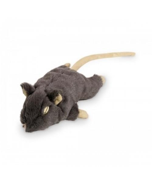 Плюшена мишка с привличаща билка -  NOBBY Германия - 14.5 см - сива
