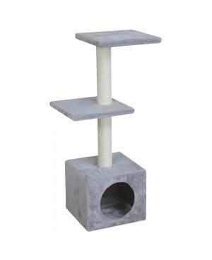 "Скрачер ""COSTA"" - NOBBY Германия - сива и кремава - 30 х 30 х 89 см - Аксесоари за котки"