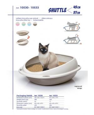 Котешка тоалетна SHUTTLE GEORPLAST - 4 цвята - 2 размера