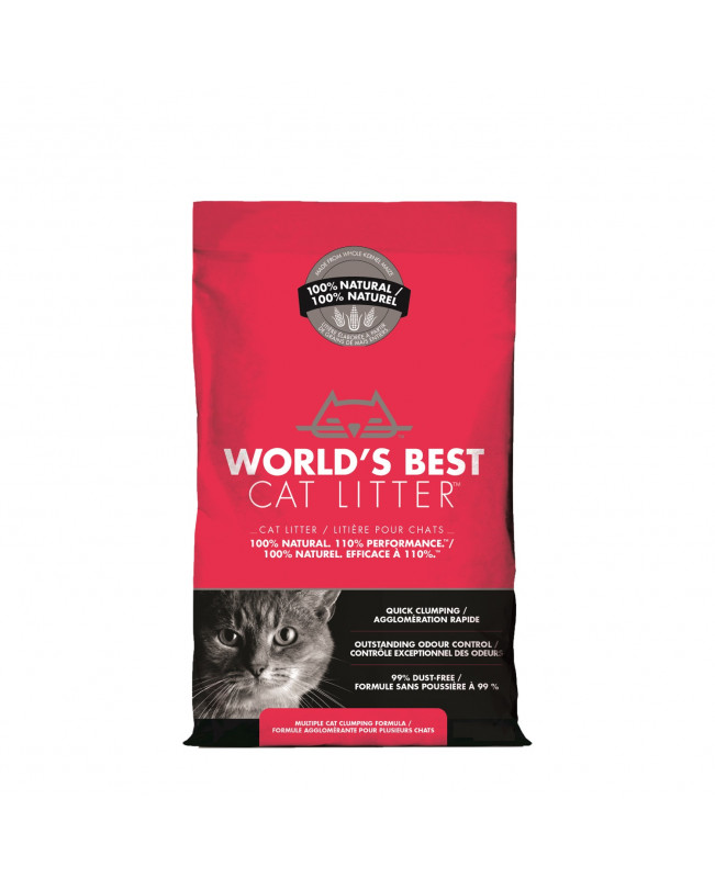 World's Best Cat Litter Multiple Cat- котешка тоалетна БИО 3,18кг. - Аксесоари за котки