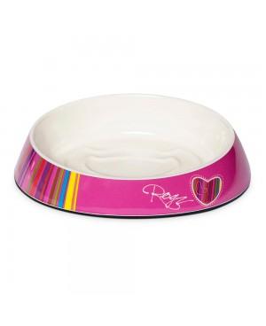 купа от меламин за коте - Rogz Fishcake Candy Stripes - Аксесоари за котки