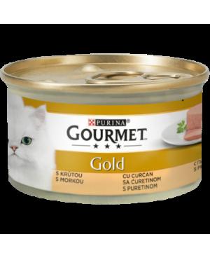 GOURMET GOLD - консерва за котка пастет с пуйка 85гр. -24бр.
