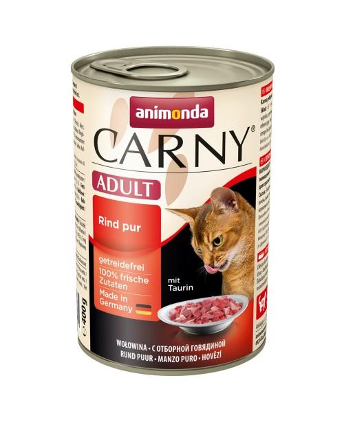 Консерва за котки Carny Adult  -  натурално говеждо 6бр.