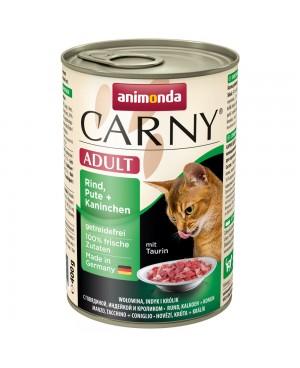 Консерва за котки Carny Adult  -  Говеждо, пуйка и заешко 6x400гр.