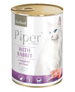 Консерва за кастрирани котки PIPER STERILIZED, 400 гр. - БЕЗ зърно