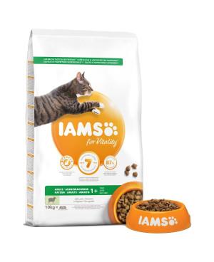 IAMS Adult с агнешко - суха храна за израснали котки 10кг.