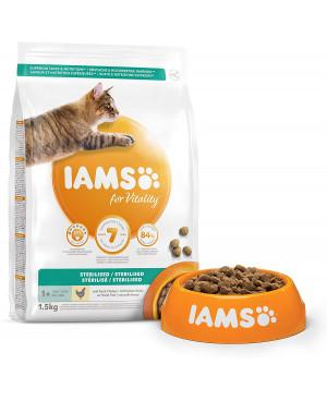 IAMS Cat Adult Sterilised с пиле  - суха храна за кастрирани котки 10кг.