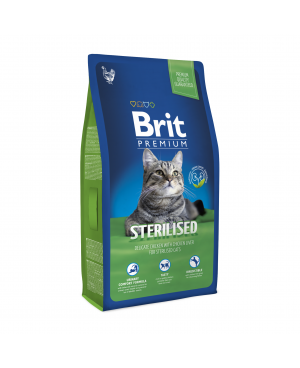 Суха храна за котки BRIT PREMIUM STERILISED 8 кг. - Суха храна