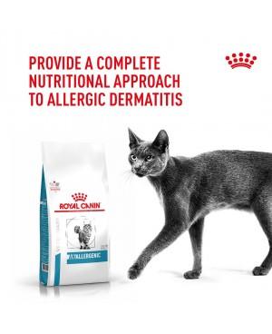 Суха храна за котки - Royal Canin Veterinary Diet Feline Anallergenic CAT -   уникална, деликатна и здравословна храна за котки с хранителни алергии. - 4 кг - Котки