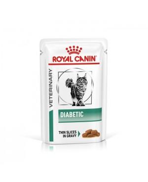 Храна за котки - Royal Canin Veterinary Diet Diabetic Cat POUCH - пълноценна диетична храна за израстнали котки при диабет - 12х100 гр - Котки