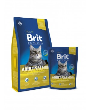 Суха храна за котки BRIT PREMIUM ADULT SALMON 8 кг. - Суха храна