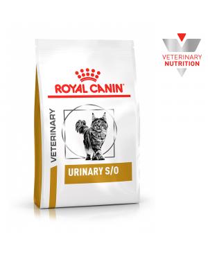Суха храна за котки - Royal Canin Veterinary Diet Urinary S/O Cat -  подходяща за разтваряне на камъни от струвит и намаляване на рецидивиращото им образуване - 7 кг - Котки