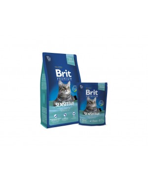 Суха храна за котки BRIT PREMIUM SENSITIVE 8 кг. - Суха храна
