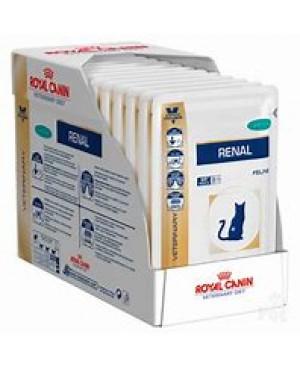 Храна за котки - Royal Canin Veterinary Diet Renal with Tuna Pouch - за хронична бъбречна недостатъчност - 12х85 гр - Котки