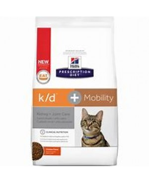 Суха храна за котки - HILL'S Feline k/d+Mobility 2 кг. - за котки с остра или хронична бъбречна недостатъчност