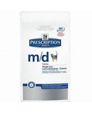 Суха храна за котки - HILL'S Feline m/d  1.5kg.-  за лечение на диабет и на затлъстяване.