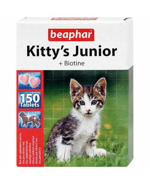 Витамини за малки котета - Beaphar - сърца с Biotin и Taurine 150таб.