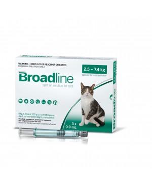 Препарат Спот Он за цялостно вътрешно и външно обезпаразитяване при котки-Broadline 2,5-7,5kg.  1пипета