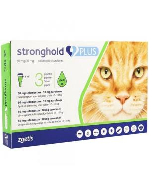Препарат Спот Он за цялостно вътрешно и външно обезпаразитяване при котки- Stronghold PLUS 5 -10kg.,  1бр. - Козметика за котки