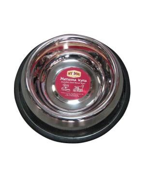 метална купа за храна или вода  12см.