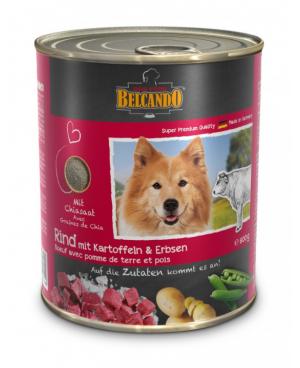 Консерва за кучета BELCANDO - говеждо с картофи и грах 800гр. - Кучета