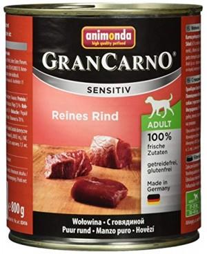 Консерва за кучета GranCarno Sensitive -Чисто говеждо 800гр. - Кучета