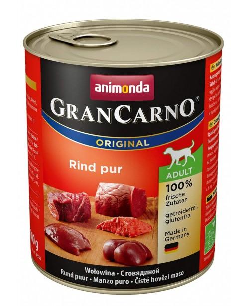 Консерва за кучета GranCarno - Натурално говеждо 800гр. - Кучета
