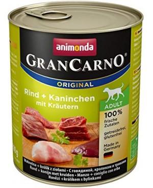 Консерва за кучета GranCarno - Говеждо и заешко с билки 800гр. - Кучета