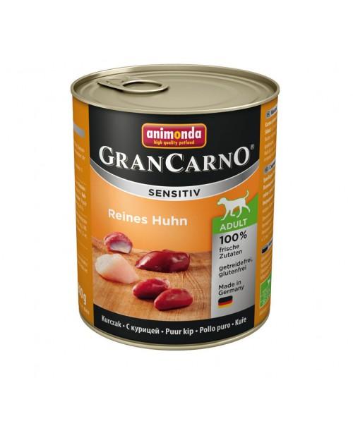 Консерва за кучета  GranCarno Sensitive - Чисто пилешко 800гр.