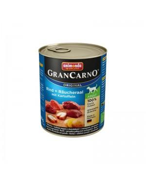Консерва за кучета GranCarno - Говеждо и пушена змиорка с картофи 800гр. - Кучета