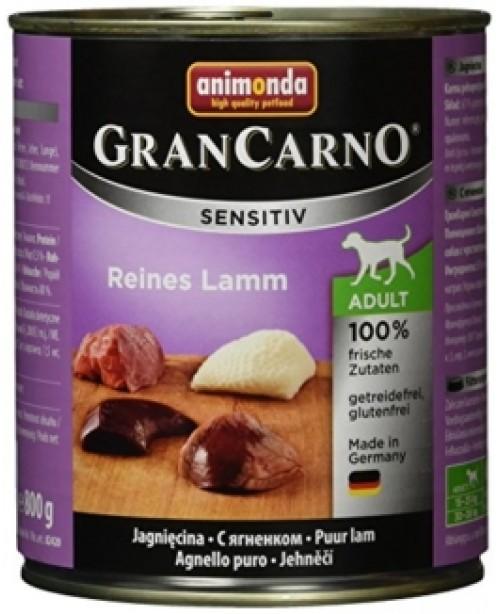 Консерва за кучета GranCarno Sensitive - Чисто агнешко 800гр. - Кучета