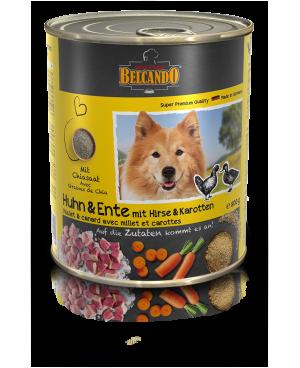 Консерва за кучета BELCANDO пиле,патица,просо и моркови 800гр. - Кучета