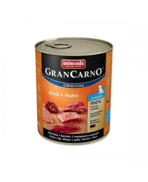 Консерва за кучета  GranCarno Junior - говеждо месо и пиле 800гр.