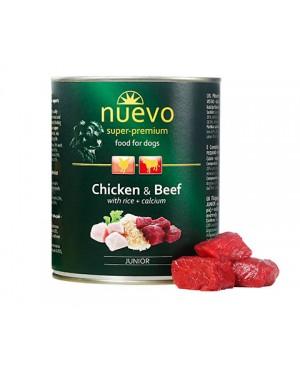 Консерва за кучета  Nuevo Dog  Junior -пиле и говеждо 800гр. - Кучета