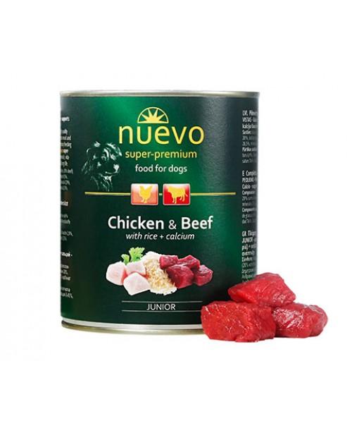 Консерва за кучета  Nuevo Dog  Junior -пиле и говеждо