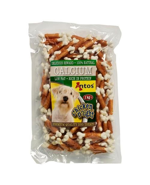 Лакомство Calcium - кокалчета обвити с пилешко месо  1кг.