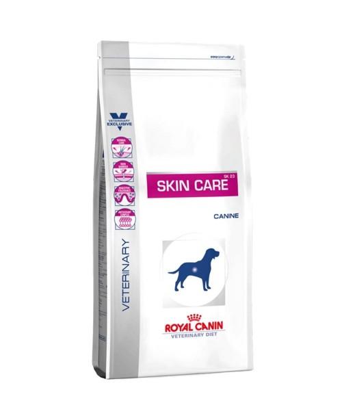 Суха храна за кучета - Royal Canin Veterinary Diet Skin Care - пълноценна диетична храна за възрастни кучета, подпомагаща  функциите на кожата при кожни болести и прекомерна загуба на козина - 12 кг - Кучета