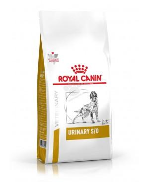 Суха храна за кучета - Royal Canin Veterinary Diet - Urinary S/O Dog -  за подпомагане на лечението на възпаления на пикочния мехур и за разграждане на пикочни камъни - 14 кг - Кучета