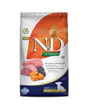 N&D puppy mini 2,5кг. - суха храна за подрастващо куче от малка порода до 12 месец с агнешко, тиква и боровинки