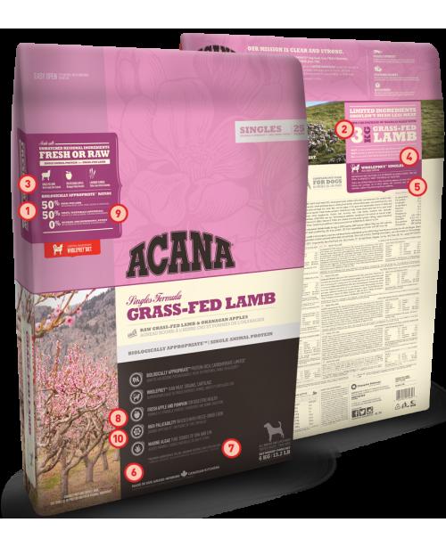 Суха храна за кучета  ACANA Singles Grass-Fed Lamb - Кучета