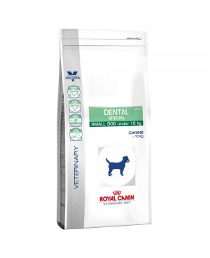 Суха храна за кучета - Royal Canin Veterinary Diet Dental Special Small Dog - ежедневна хигиена на устната кухина при кучета с тегло над 10 кг, против зъбен камък и плака  - 2кг - Кучета