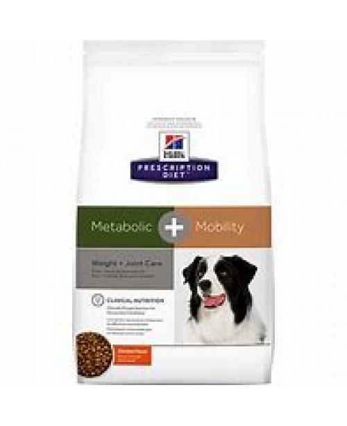 Суха храна за кучета - HILL'S Canine Metabolic + Mobility 12кг.-комбинирана диета за наднормено тегло и ставни проблеми