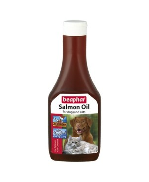 Mасло от сьомга Beaphar Salmon Oil - за здрава и лъскава козина, 425 мл