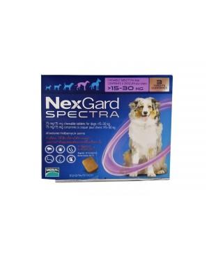 Препарат таблетка  за цялостно вътрешно и външно обезпаразитяване при кучета -Nexgard Spectra 15 -30кг., 1 таблетка - Кучета