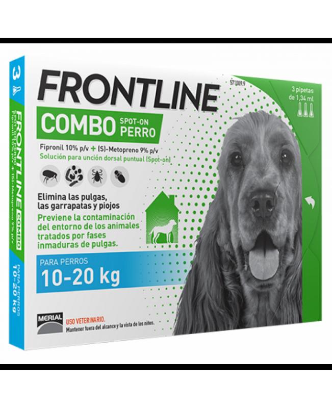 Препарат Спот Он за  външно обезпаразитяване при кучета -Frontline combo  10-20 кг.,  1 пипета - Кучета