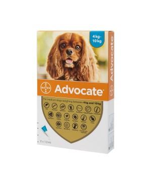 Препарат Спот Он за цялостно вътрешно и външно обезпаразитяване при кучета - Advocate 4-10 кг.,  1 пипета - Кучета