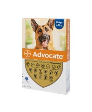 Препарат Спот Он за цялостно вътрешно и външно обезпаразитяване при кучета - Advocate 25-40 кг.,  1 пипета - Кучета