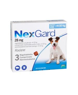 Препарат таблетка  за  външно обезпаразитяване при кучета -Nexgard 4-10кг., 1 таблетка - Кучета