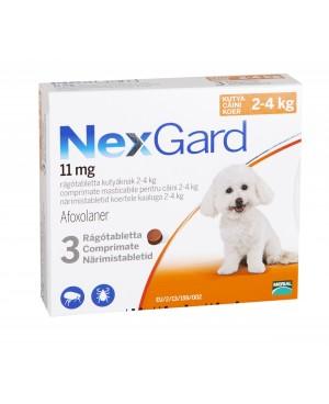 Препарат таблетка  за  външно обезпаразитяване при кучета -Nexgard 2-4 кг., 1 таблетка - Кучета